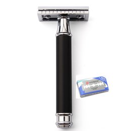 Wholesale Manual Handle - Classic Safety Razor For Men Manual Blade Replaceable Shaver Brass Blank Handle Razors for Shaving Men