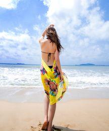 Wholesale Dresses Brace Blue - Fashion all-match sunscreen shawl Summer essential Women's Wrap Beach Dresses Chiffon Bikini Cover-Ups Wrap Braces Skirt Slip Dress