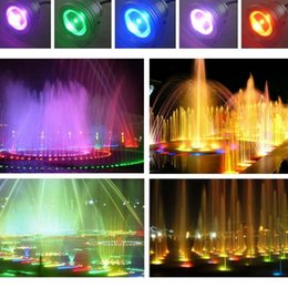 Wholesale Fountain Remote Control - Wholesale- Remote Control 10w 12v Water Resistant RGB LED Underwater Light Lamp for Landscape Fountain Pond Lighting --M25