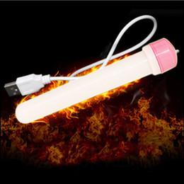 Wholesale Heated Pussies - USB Heating Rod For Men Masturbators Pocket Pussy Warmer Heating False Vagina Adult Sex Toys q170616