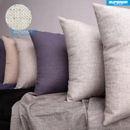 Wholesale Fine Weave - (50 Pieces Lot) Linen-Cotton Blended Grey Plain Pillow Case Grey Blank Linen Pillow Cover 240gsm Natural Fine Linen Cushion Cover