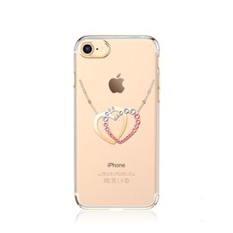 Wholesale Diamond Pattern Iphone Case - Dirt-resistant Case for APPLE iPhone 7 with Swarovski Luxury Crystal Rhinestone Diamond Heart Pattern Drop shipping