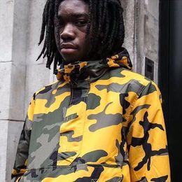 Wholesale Women Warm Pants - 2017 new High Quality Brooklyn Jacket SUPlogo 17FW Warm Up Pant Men Women Yellow camouflage Jackets Clothing Windbreaker Hip Hop