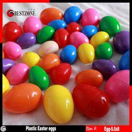 Wholesale Easter Color Egg - Wholesale colorful plastic easter egg candy color high quality easter egges children toys kids gifts ZJ-87
