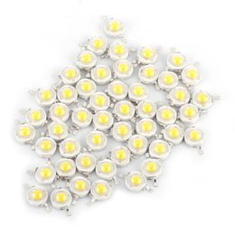 Wholesale Wholesale Chip Beads - Wholesale- 50pcs Lot SMD 1W Cool Warm White LED Lamp Beads Bulb Chip For Floodlight Spotlight High Power New