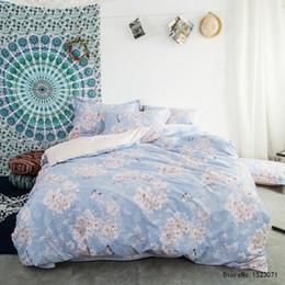 Wholesale Butterfly Sheets Comforter Sets - Pink butterfly Blue floral bohemian style 100% Cotton bedding set sheets sets bedsheet duvet cover set bedlinen bedclothes