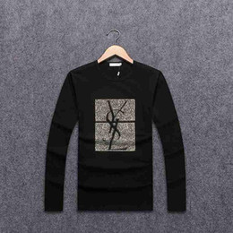 Wholesale Mens Shirts Brands - 2017 New Luxury Brand Mens T Shirt Summer Shirt US British French Style long Sleeves tshirt Hommes Chemise # YSL8717