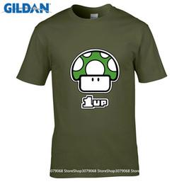 Wholesale Mario Bros Mushroom - GILDAN t shirt design pattern Game Super Mario Bros T-shirt Cartoon Mushroom Printing Shirts Fashion Teenager Tops Homme Tees