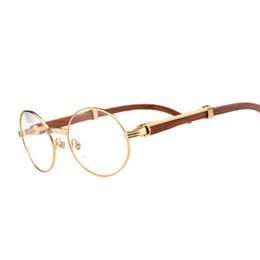 Wholesale Glasses Brand Frame Optical - CT brand designer prescription wood clear glasses myopia optical lenses reading glasses 18k gold plated frame wood sunglasses for women men