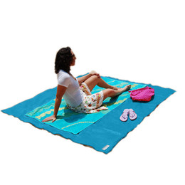 Wholesale Automatic Inflatable Cushion - 3 Colors Sand Free Mat Blanket Camping Mat Outdoor Picnic Foldable Mattress Camping Cushion Beach Mat 200*150cm Wholesale 0711030