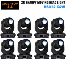 Wholesale Professional Moves - TP-2R 8XLOT Professional 132W 2R Moving Head Beam Gobo Light For Pub   Bar lighting High speed shake effect Mechanical dimmer
