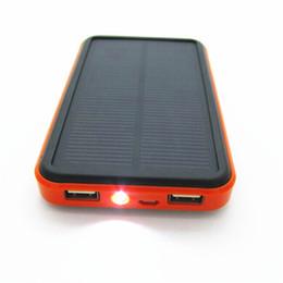 Wholesale Новый стиль водонепроницаемый солнечной питания банк mah внешний аккумулятор солнечное зарядное устройство powerbank для мобильного телефона цифровых продуктов зарядки