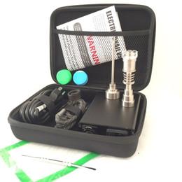 Kit digital enail on-line-Portátil Colorido ENAIl elétrica dab kits de unhas PID temperatura digital dabber box com Ti Quartz pregos bobina aquecedor para bongo de vidro de água