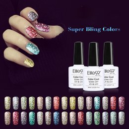 Wholesale Bling For Nails - Super Bling Gel Nail Polish Pure Soak Off UV LED Starry Gel Polish UV LED Glitter Sequins Nail Gel for Nail Art 10ml