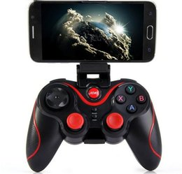 Iphone gen on-line-Controladores de jogo Terios T3 + gamepad bluetooth equipado telefone celular titular GEN JOGO S3 Bluetooth gamepad para o telefone android IOS iphone