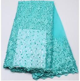 ML-55 2017 tela africana hermosa del cordón / tela de encaje de alta calidad de Nigeria Mesh Lace / French Tulle para los vestidos de la manera desde fabricantes