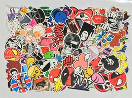 Wholesale Doodle Car - Hottest Sale Waterproof PVC Stickers Decal Car Skateboard Scooter Luggage Sticker Doodle Decoration MOQ 1000 PCS