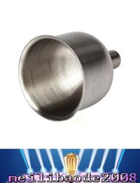 Wholesale Stainless Steel Hot Pots - Hot 8mm Funnel For Most Hip Flasks Flask Wine Pot Wide Mouth Stainless Steel FREE SHIPPING MYY