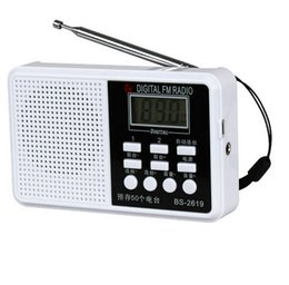 Wholesale Mirco Sd Cards - Wholesale-Mini rechargeable portable radio,LED display panel Stereo fm radio de bolsillo digital Speaker USB TF mirco for SD Card MP3