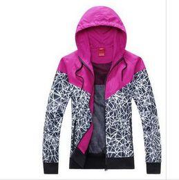 Wholesale Cheap Active Hoodies - 2017 Cheap new Women's Hoodies sports jacket Long Sleeve hooded jacket Lady Waterproof casual Fashion Thin Windbreaker Zipper Coats