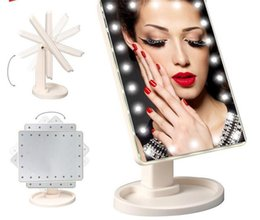 Wholesale 16 Led Screen - with USB Charge 360 Degree Rotation Touch Screen Makeup Mirror Cosmetic Folding Portable Compact package With 16 LED Makeup Tools DHL