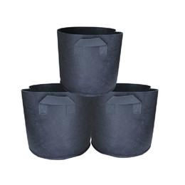 Wholesale Coat 22 - 25*22 30*25 35*30Cm Seed Planting Bags Thicken Non Woven Fabrics Basin Grow Bags Plant Pots Eco-Friendly Seeding Black Bag Garden Supplies