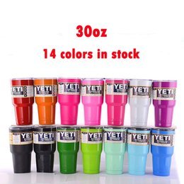 Wholesale DHL Yeti oz oz Rambler Tumbler Cups Bright Green Bright Purple Bright Red Copper Leopard Yeti Camo Stainless