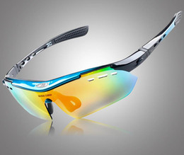 Wholesale Eyewear Bag - 6 LENS cycling glasses bike mountain glasses with bag outdoor eyewear sport sunglasses polarized uv400