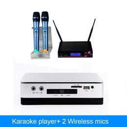 2019 оптовые беспроводные микрофоны для караоке Оптовая продажа-Главная KTV HDD караоке плеер машина система с 2 ТБ Жесткий драйвер включают 42k песни плюс беспроводной микрофон дешево оптовые беспроводные микрофоны для караоке
