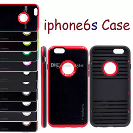 Wholesale Iphone Case Silicone Fashion - Motomo Case For Iphone X Iphone 8 Case Fashion 6 Plus Silicone Case For Samsung S5 S6 Edge NOTE5 Verge Dual Layered With OPP Package