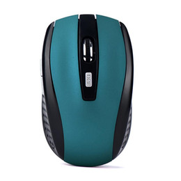 Wholesale Usb Laptop Accessories - Wholesale- 2.4GHz Computer Accessories Wireless Gaming Mouse USB Receiver Wireless Optical Mouse Pro Gamer For PC Laptop Desktop Mouse Game