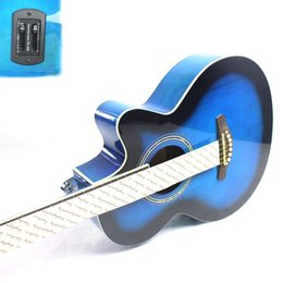 Wholesale Acoustic Electric Guitars High Quality - Wholesale-2016 NEW guitars 39-12 39 inch high quality Electric Acoustic Guitar Rosewood Fingerboard guitarra with guitar strings