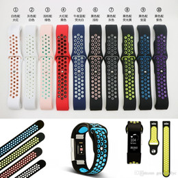 Wholesale Loop Device - NK Hole Loops Strap Replacement Silicone Wrist Bracelet Sport Watch Band Strap For Fitbit Charge2 Band Wearable Device Accessories