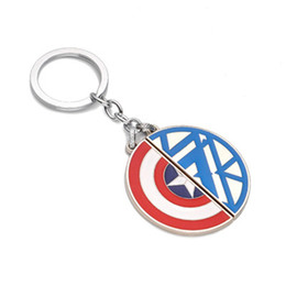 Wholesale Avengers Jewelry - The Avengers Captain America Key Chain Moive Jewelry Alloy Car Key Rings & Keychain Europe and America Hot