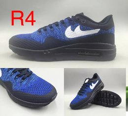 Wholesale Shoes Mans Air 87 - 2017 Hot Sale Maxes ULTRA 87 Oreo Running Shoes for High quality Youth Women Men Fashion Outdoor Sports Walking Casual Shoes Size 7-11
