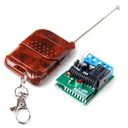 Wholesale Wireless Remote Car Receiver - Wholesale- 1Button433 MHZ Wireless RF Remote Control+Receiver Controller for Security Alarm Motorcycles Car Light Bulb GarageDoorA624+A626