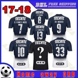Wholesale R 17 - Monterrey Soccer jerseys 2018 home away Monterrey jersey 17-18 R FUNES MORI D PABON DE NIGRIS E CARDONA W AYOVI men football shirts S-XXL