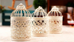 Wholesale Metal Bird Cages - 30pcs Bird Cage Decoration Candle Holders Bird Cage Wedding Candlestick DHL Fedex Free shipping