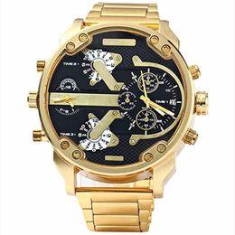 Wholesale Time Zone Wrist Watches - Quartz Wristwatches Watches Luxury Brand Men Military Multiple Time Zone Wrist Watches Full Steel Men Sports Watch Waterproof Relogio Ma...