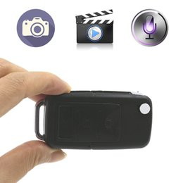 Wholesale Top Spy Cameras - Top quality 818 Mini Car Key Hidden Camera HD Car KeyChain Spy Camera With Motion Detection HD Video Recorder Portable Camcorder