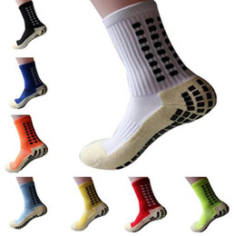 Wholesale Yoga Cotton Socks - New Football Socks Anti Slip Soccer Socks Men Good Quality Cotton Calcetines The Same Type As The Trusox