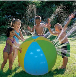 Wholesale Sprinkler Toys - Hotsale Inflatable Beach Water Ball Outdoor Sprinkler Summer Inflatable Water Spray Balloon Outdoors Play In The Water Beach Ball KKA1473