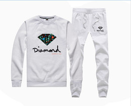 Wholesale Diamond Supply Skateboard - H885045 Hot-sale Diamond Supply Sweatshirts +PANTS suit for Men and Women Fleece Lined Hip Hop Skateboard Crewneck hoodies S-4XL