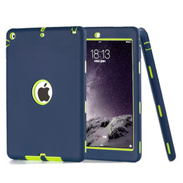 Wholesale New Pro - 3 in 1 Defender Robot Heavy Duty Shockproof Silicone TPU Hard PC Cover Case For New iPad 2017 Pro 9.7 2 3 4 5 6 Air Air2 Mini Mini4