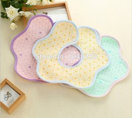 Wholesale Thick Baby Bibs - Wholesale- 5PCS LOT,Baby bib bibs cotton quilted Three layers printing thick waterproof baby bibs