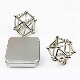 Wholesale Puzzle Steel - Magnetic Puzzle Neodymium Magnetic rods 36pcs D4mm x L23mm magnetic bars + 27pcs D8mm steel balls OTH627