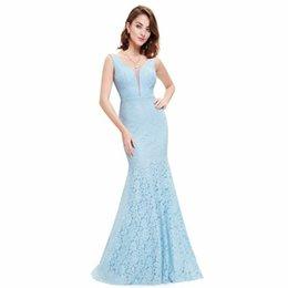 Wholesale Red Maternity Dress Small - Lace Mermaid Prom Dresses Long 2017 Ever Pretty Fashion Small Train Sexy Trumpet V-Neck Elegant Prom Dresses