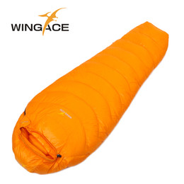 Wholesale Ultralight Sleeping Bag Down - Wholesale- Fill 400G 600G 800G WINGACE ultralight duck down camping outdoor daunenschlafsack mummy fall Travel sleep adult sleeping bags