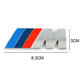 2019 m5 metales Estilo del coche Decoración del coche Emblema Insignia M Logotipo de metal 3D Etiqueta engomada del coche para BMW M3 M5 X3 X5 X6 E36 E39 E46 rebajas m5 metales