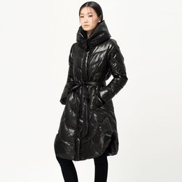Wholesale Original Outfits - Winter New Original Design Women 90% White Duck Down Office Lady Outfit Stand Collar Down Jacket Coat